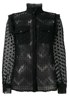 Just Cavalli sheer embroidered blouse