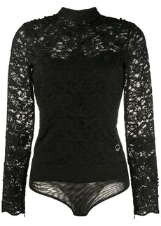 Just Cavalli sheer lace bodysuit