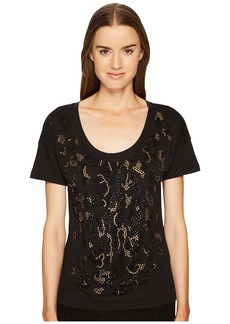 Just Cavalli Short Sleeve Animal Placed Embellishments Tee
