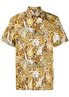 Just Cavalli short sleeved leopard print shirt