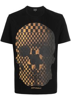 Just Cavalli skull-print short-sleeved T-shirt