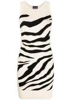 Just Cavalli sleeveless animal-print dress