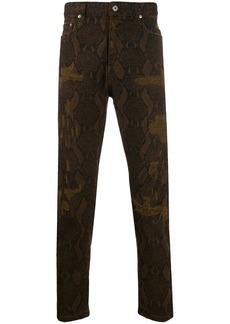 Just Cavalli slim-fit snakeskin print jeans