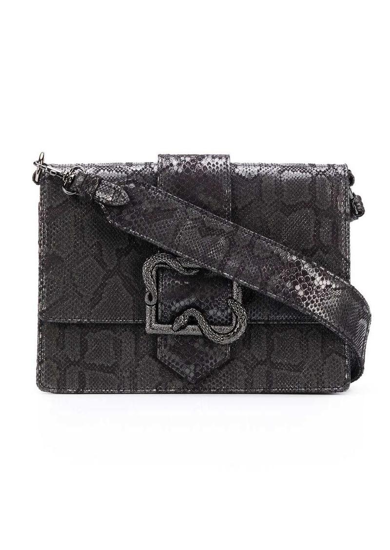 Just Cavalli snake buckle crossbody bag
