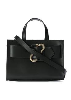 Just Cavalli snake buckle tote bag