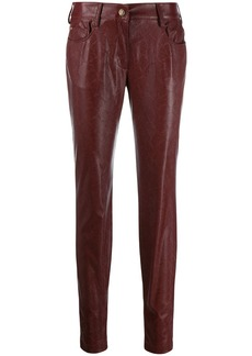 Just Cavalli snake embossed trousers