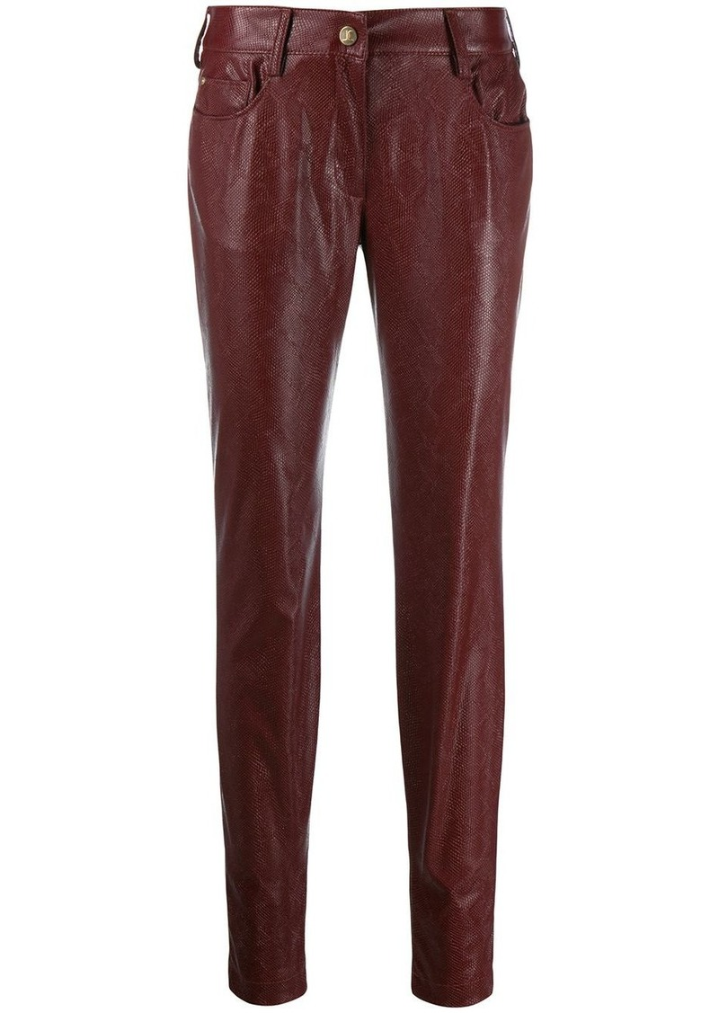 Just Cavalli snake embossed trousers