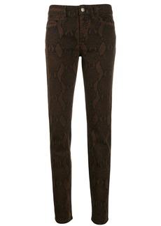 Just Cavalli snake print slim-fit trousers