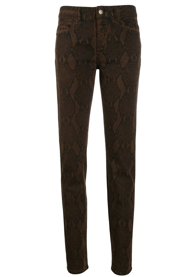 Just Cavalli snake print slim-fit trousers