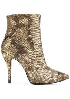 Just Cavalli snakeskin effect boots