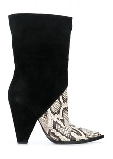 Just Cavalli snakeskin-effect contrast boots