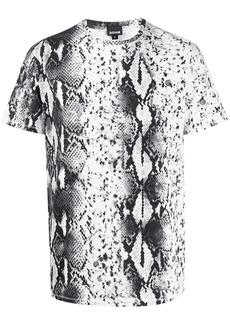 Just Cavalli snakeskin effect print T-shirt