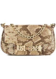 Just Cavalli snakeskin effect shoulder bag
