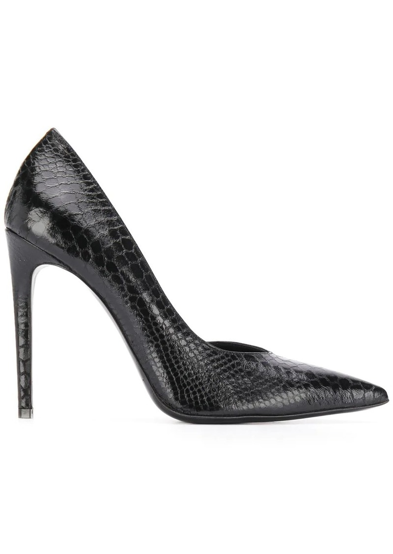 Just Cavalli snakeskin effect stiletto pumps