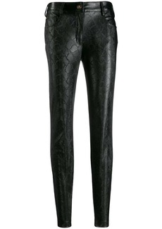 Just Cavalli snakeskin-effect trousers