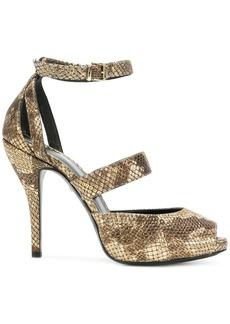 Just Cavalli snakeskin effects sandals