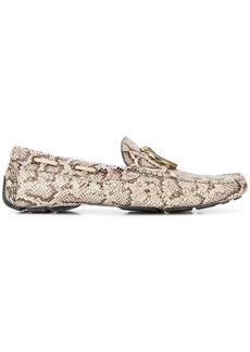 Just Cavalli snakeskin-pattern loafers