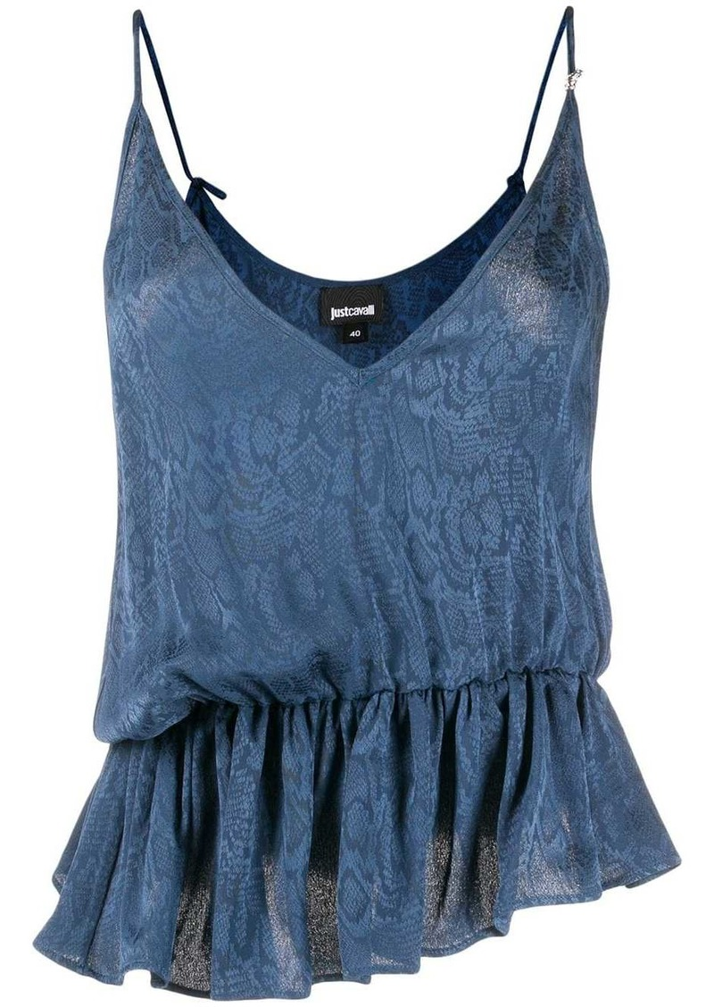 Just Cavalli snakeskin print cami top