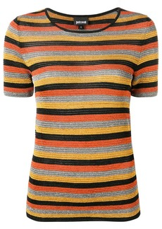 Just Cavalli sparkly knit striped T-shirt
