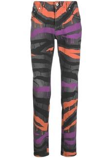 Just Cavalli spilling stripes skinny jeans