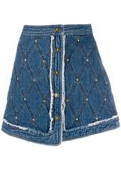 Just Cavalli stitched pattern short skirt