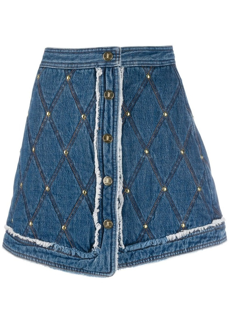 Just Cavalli stitched pattern short skirt