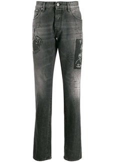 Just Cavalli straight fit stonewashed jeans