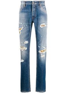 Just Cavalli straight leg distressed effect jeans