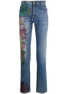 Just Cavalli straight-leg graffiti print jeans