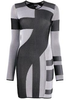 Just Cavalli stripe pattern fitted dress