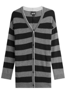 Just Cavalli Striped Cardigan with Wool and Cashmere