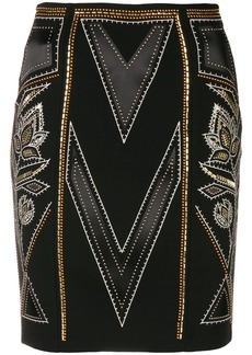 Just Cavalli stud-embellished pencil skirt