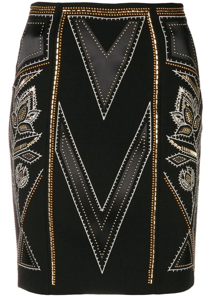 Just Cavalli stud-embellished pencil skirt