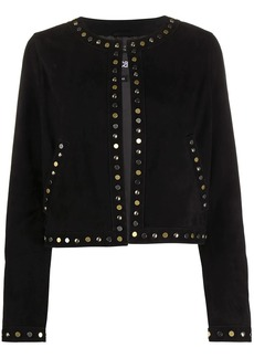 Just Cavalli studded fitted jacket