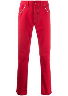 Just Cavalli studded straight trousers