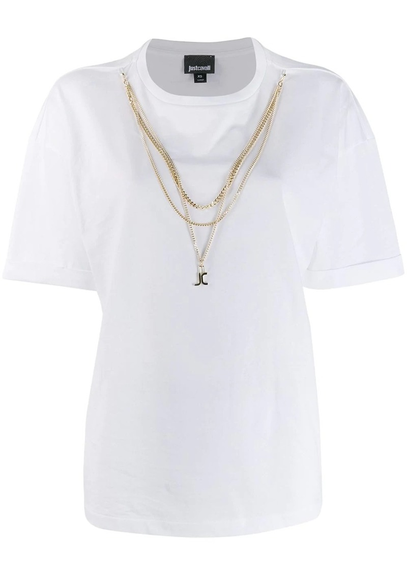 Just Cavalli T-shirt with chain details