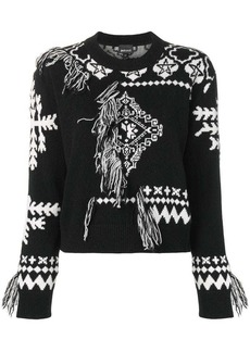 Just Cavalli tassel edge knitted jumper