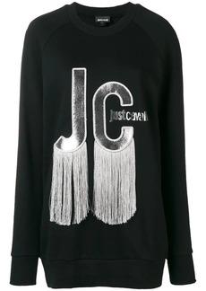 Just Cavalli tassel logo sweatshirt