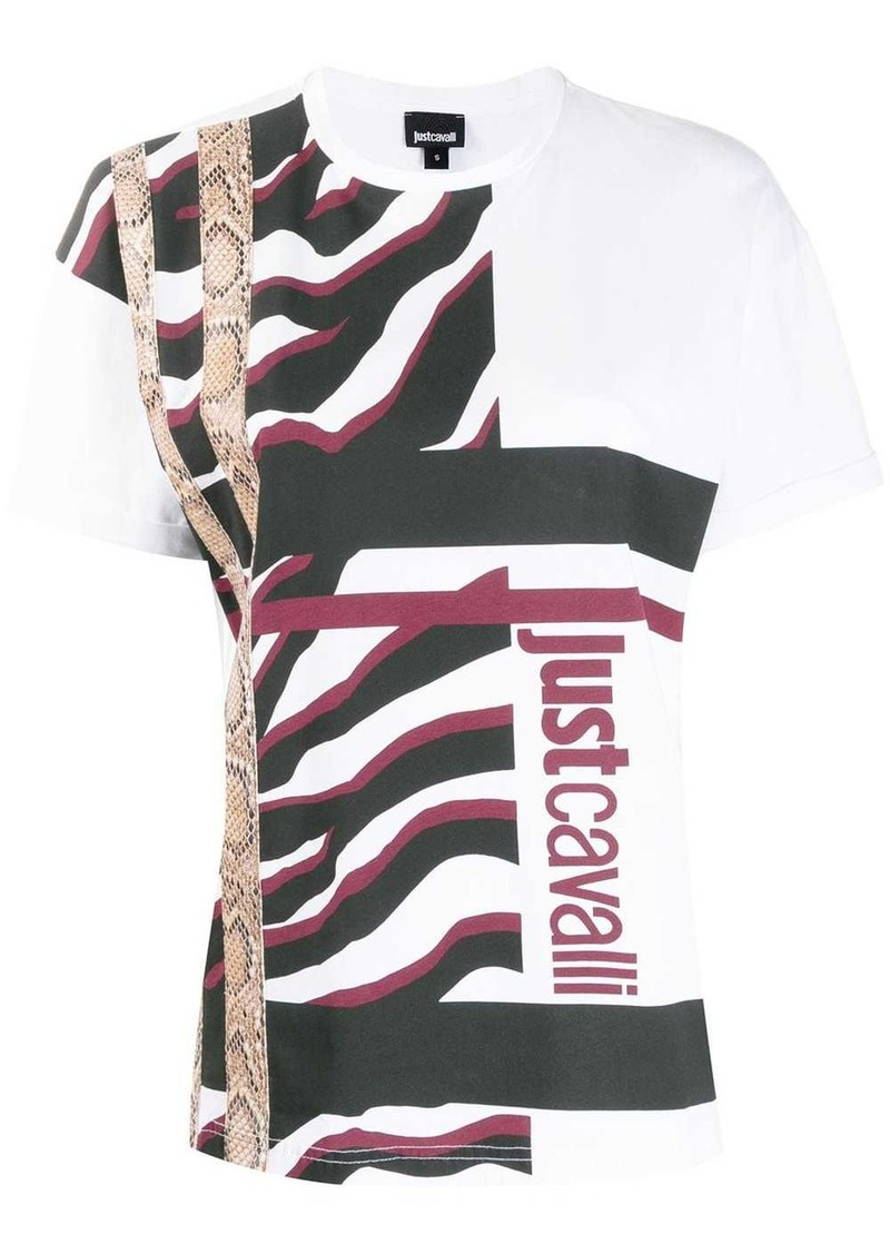 Just Cavalli textured print T-shirt