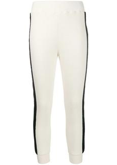 Just Cavalli textured side stripe track pants