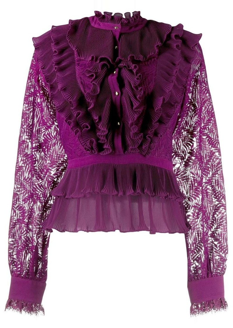 Just Cavalli tiered ruffle blouse