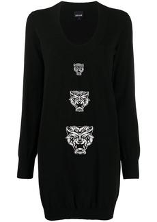 Just Cavalli Tiger intarsia knit dress