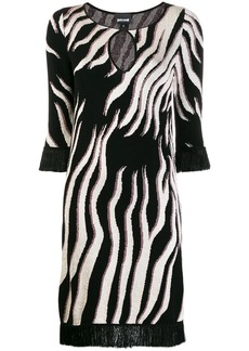 Just Cavalli tiger knit sweater dress