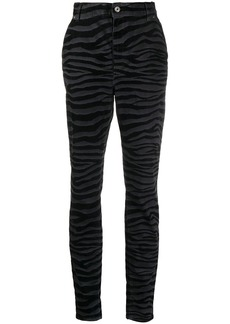 Just Cavalli tiger-print high-waisted jeans