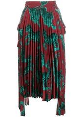 Just Cavalli tiger print pleated skirt