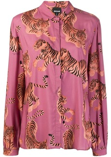 Just Cavalli tiger print shirt