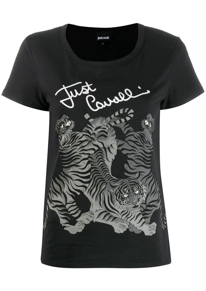 Just Cavalli tiger print T-shirt