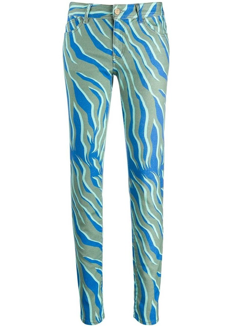 Just Cavalli two tone skinny jeans