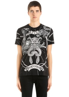 Just Cavalli Universe Printed Cotton Jersey T-shirt