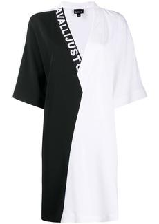 Just Cavalli V-neck colour-block dress
